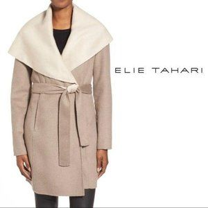 Elie Tahari Wool Hooded Coat 14